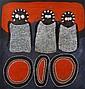 JACK DALE MENGENEN (CIRA 1935-2013) Wandjinas and Jalala (Marking Stones) acrylic and natural earth pigments on canvas