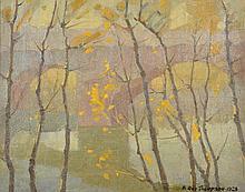 FRANCIS ROY THOMPSON (1896-1966) Bridge 1928 oil on canvas
