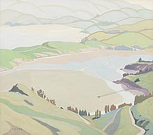 IVY GRACE FIFE (New Zealand, 1905-76) Landscape with Lake gouache on paper