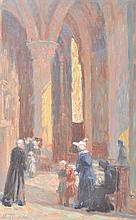 MARIE TUCK (1866-1947) Cathedral Columns oil on canvas