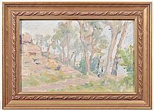 MARIE TUCK (1866-1947) Coastal Landscape oil on board