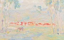 MARIE TUCK (1866-1947) Adelaide Hills monotype