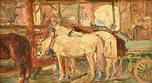 MARIE TUCK (1866-1947) East End Market oil on board