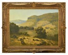 GUSTAVE A. BARNES (1878-1921) Mount Barker Pastoral oil on canvas