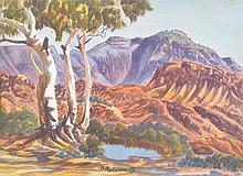 OTTO PAREROULTJA (1914-1973) Central Australian Landscape (#1) watercolour