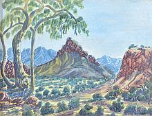 OTTO PAREROULTJA (1914-1973) Central Australian Landscape (#2) watercolour