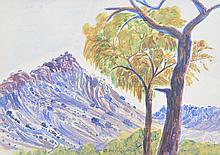 OTTO PAREROULTJA (1914-1973) Central Australian Landscape (#4) watercolour