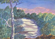 OTTO PAREROULTJA (1914-73) Central Australian Landscape (#5) watercolour