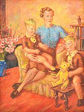 ERNEST MILSTON (1893-1968) Mrs Cheeseman and Sons 1940 oil on canvas