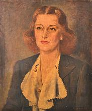 REX WOOD (1908-1970) Portrait of the Daughter of Edward Hargrave oil on canvas