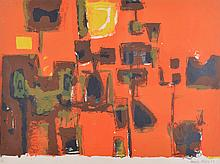 HENRY CLIFFE (British, 1919-1983) Abstract 1957 screenprint 7/30