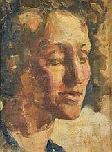 ATTRIB. NOEL WOOD (1912-2001) Portrait of a Lady oil on muslin on board