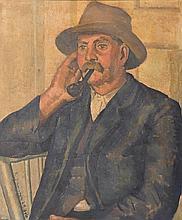 KATHLEEN SAUERBIER (1903-1991) South Coast Farmer 1929 (also known as The Australian) oil on canvas