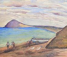 LISETTE KOHLHAGEN (1890-1969) By the Beach watercolour