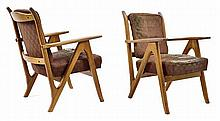 A PAIR OF SCHULIM KRIMPER ARMCHAIRS