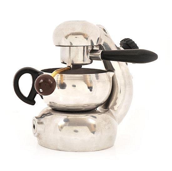 AN ESPRESSO MACHINE IN THE STYLE OF ATOMIC