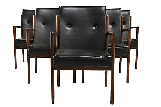 MODERNTONE FOR FEATHERSTON INTERIORSA SET OF SIX OPEN-ARMCHAIRS, 1965