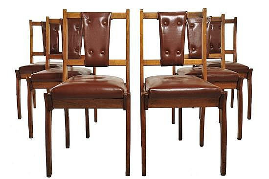 SCHULIM KRIMPER (1893-1971)A SET OF SIX DINING CHAIRS