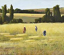 MARGARET BENOIT (BORN 1941) In the Field oil on board