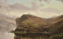 HAUGHTON FORREST (1826-1925) Loch Duich, Scotland oil on board