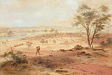 S.T. GILL (1819-1890) View of Parramatta watercolour