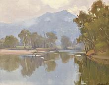 ERNEST BUCKMASTER (1897-1968) Morning, Murray River oil on canvas
