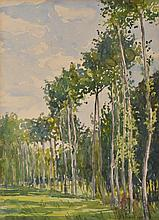 JESSIE TRAILL (1881-1967) French Poplars 1930 watercolour