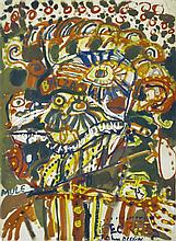 JOHN OLSEN (BORN 1928) Georges Mora oil on paper