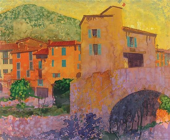 Gregory Alexander (English/Australian, born 1960) Sospol Village, France 2003 watercolour