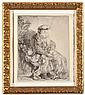 HARMENSZ VAN RIJN REMBRANDT (DUTCH, 1606 - 1669) Abraham Caressing Isaac circa 1637 etching state II or III of V
