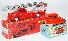 TWO TEKNO MODELS INCLUDING 445 SCANIA-VABIS STIGEBRANDSPROJTE; AND 450 TRUCK (VG-E BOXES P-G) (2)