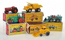 COLLECTION OF MATCHBOX KING SIZE MODELS INCLUDING K9 AVELING-BARFORD; K10 AVELING-BARFORD WITH AQUA BODY; K1 WEATHERILL HYDRAULIC SHOVEL; K4 INTERNATIONAL TRACTOR; AND K5 FODEN DUMPER TRUCK (A LOT)