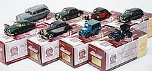 8 X GEMS & COBWEBS COLLECTION MODELS INCLUDING JAGUAR MK 5; JAGUAR MK 1; RILEY PATHFINDER; JAGUAR 2.5 LTR; JAGUAR MK.2; VAUXHALL; WILLY'S FORD JEEP; AND DAIMLER HEARSE (M BOXES E-M) (8)