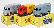 THREE CIJ MODELS INCLUDING 3/60S CAMIONNETTE SHELL; 2 X 3/60 CAMIONNETTE 1000KGS (E-M BOXES G-VG) (3)