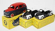 THREE CIJ MODELS INCLUDING 3/45 TAXI; AND 2 X 3/49 4 CV POLICE-RENAULT (