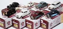 8 X GEMS & COBWEBS COLLECTION MODELS INCLUDING '60'S BUBBLE CAR; MORRIS BULL NOSE; JAGUAR MK 7; DAIMLER 420; 2 X JAGUAR MARK 8; SS JAGUAR AIRLINE; AND JAGUAR MK IX (M BOXES E-M) (8)