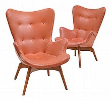 PAIR OF GRANT FEATHERSTON (AUSTRALIAN, 1922-1995) R160 CONTOUR ARMCHAIRS