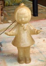 A DAVID BROMLEY FIBREGLASS FIGURATIVE LAMP OF A GIRL