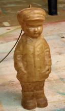 A DAVID BROMLEY FIBREGLASS FIGURATIVE LAMP OF BOY