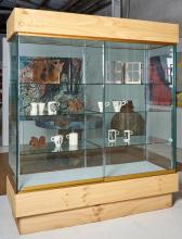 A CONTEMPORARY GLAZED DISPLAY CABINET