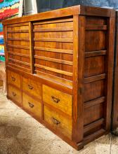 A JAPANESE TANSU WITH SIX DRAWERS