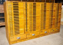 A MID 20TH-CENTURY JAPANESE COMPARTMENTAL FILING CHEST