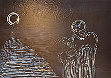 FIONA OMEENYO (born 1981) Reflection 2002 acrylic on canvas