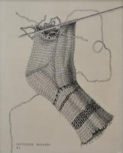 ERICA MCGILCHRIST, UNFINISHED BUSINESS, PEN, 24.5 X 19.5CM
