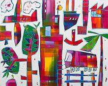 § BRUCE EARLES (born 1953) Postcard Place 2013 oil on canvas