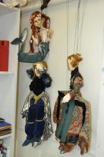 A COLLECTION OF MARIONETTE DOLLS