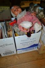 A COLLECTION OF DOLLS AND TEDDYS