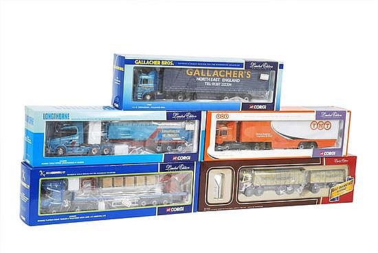 SIX CORGI LIMITED EDITION COMMERCIAL VEHICLES (M BOXES E-M) (5)