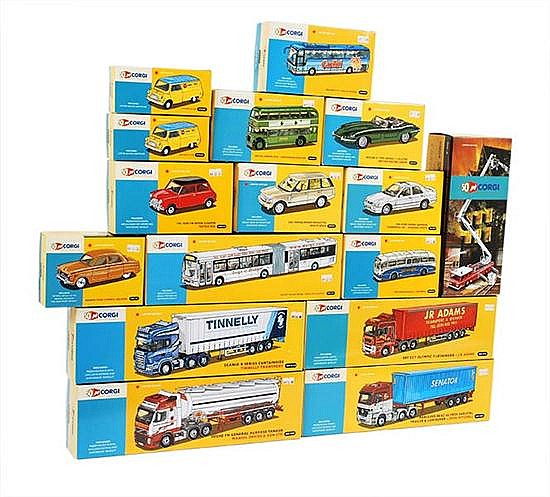 SIXTEEN LIMITED EDITION CORGI 50TH ANNIVERSARY MODELS (M BOXES M) (16)