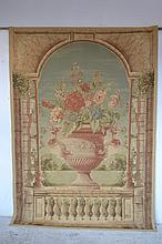 AN AUSTRALIAN FLORAL 'ADORABELLA' WALL TAPESTRY ON BAR